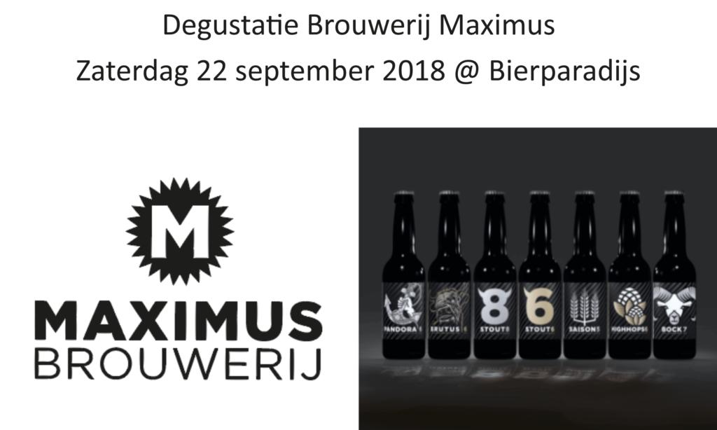 Brouwerij Maximus - Degustatie - Bierparadijs