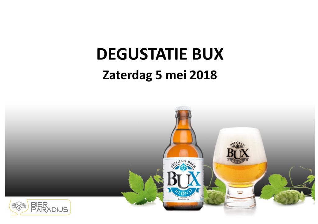 Bux Beer - Degustatie Bierparadijs