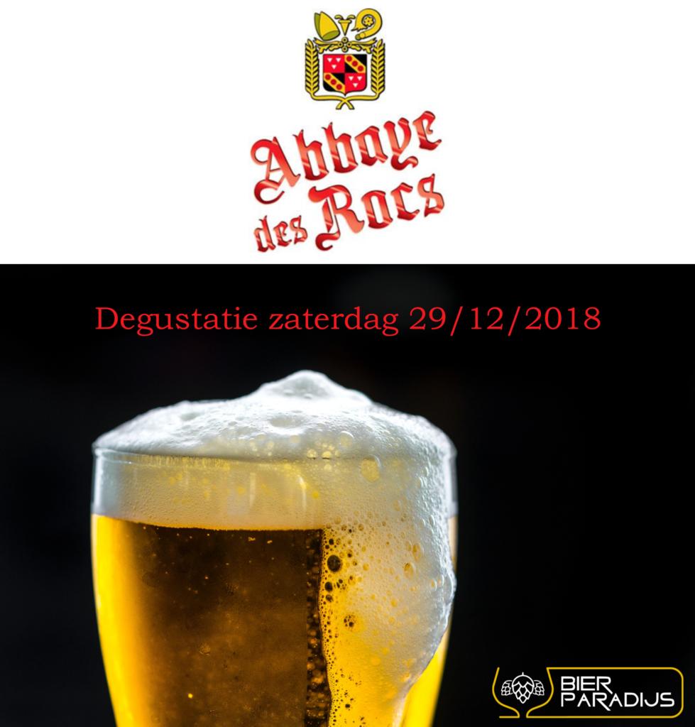 Degustatie Abbaye Des Rocs - Bierparadijs