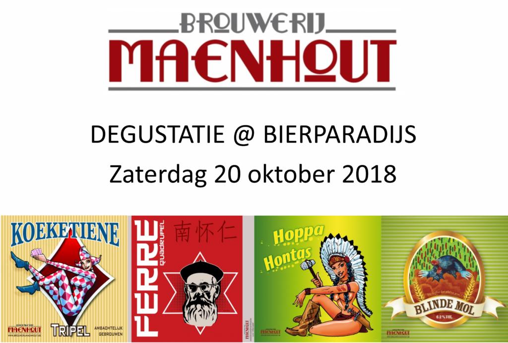 Degustatie Brouwerij Maenhout - Bierparadijs