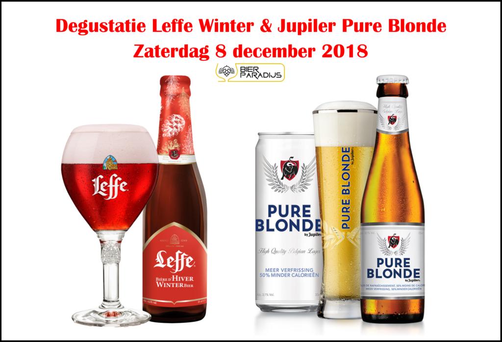 Degustatie Leffe Winter & Jupiler Pure Blond Bierparadijs