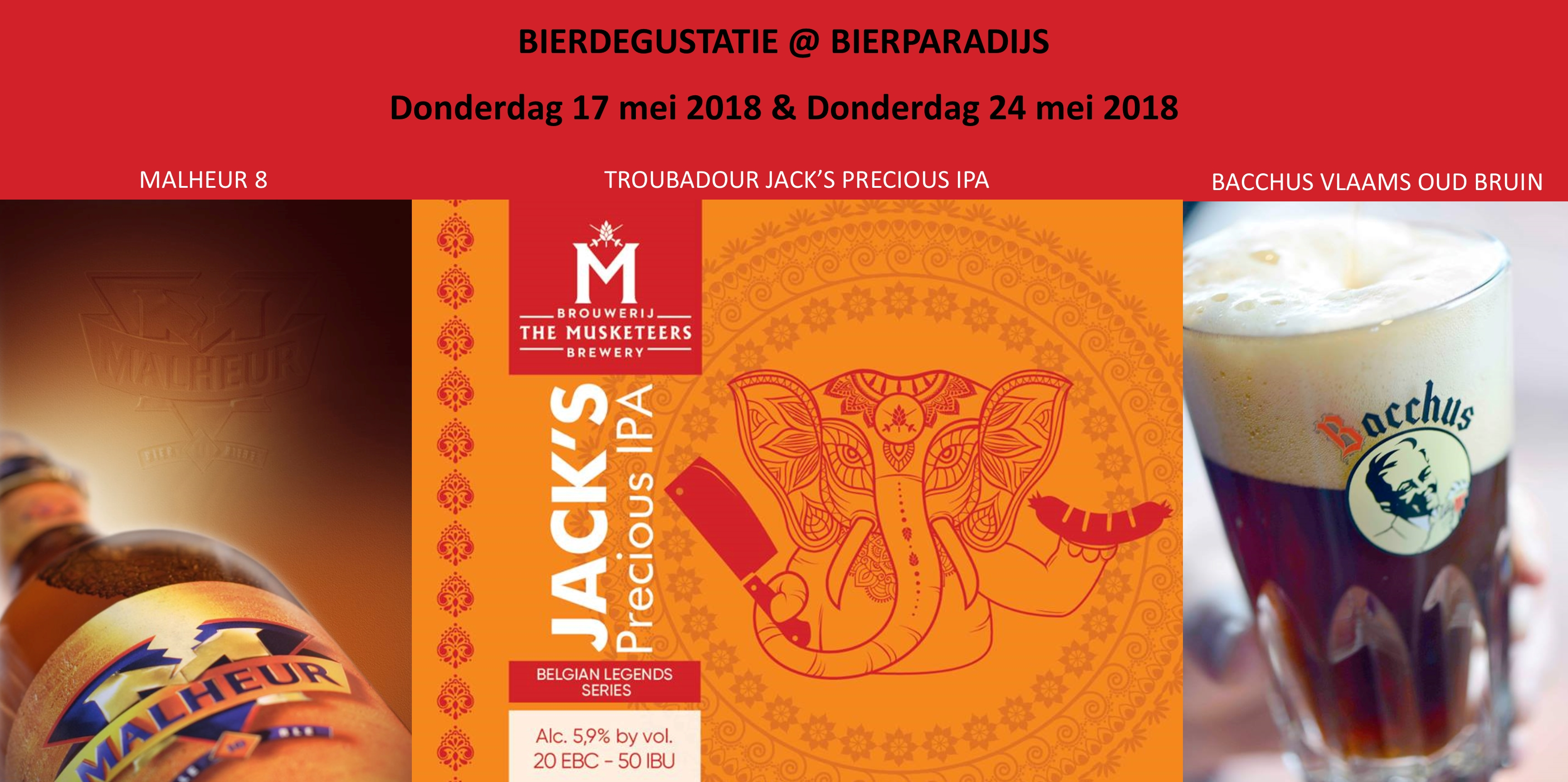 Degustatie Malheur, Troubadour & Bacchus - Bierparadijs