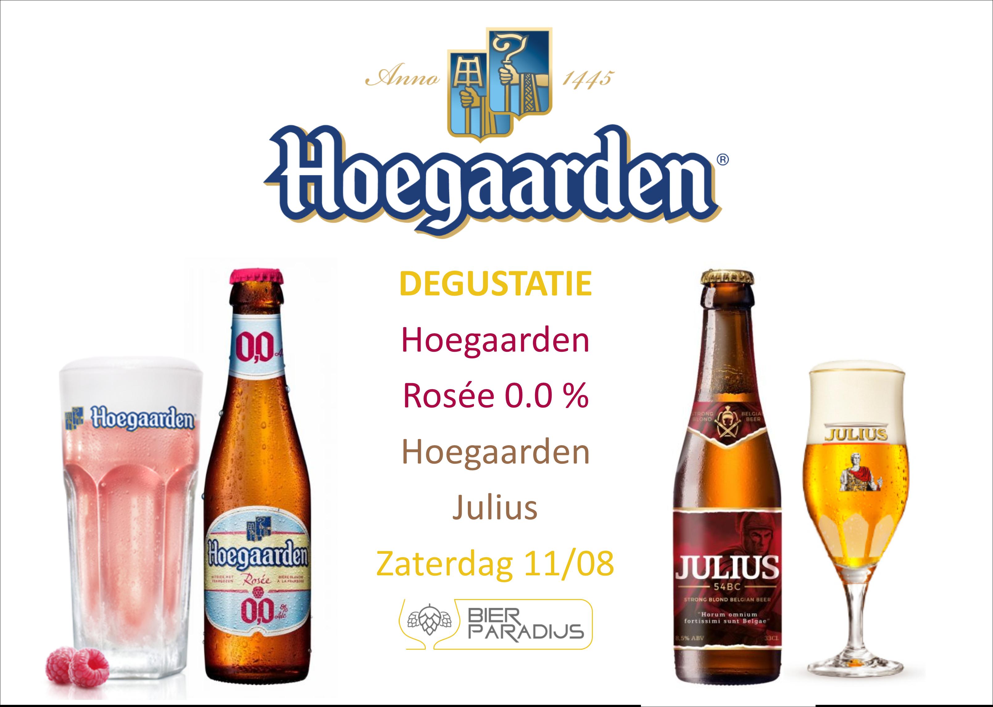 Hoegaarden Rosée 0.0% & Hoegaarden Julius - Bierparadijs