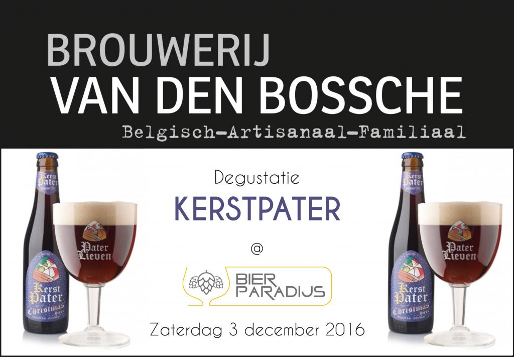 Kerstpater Van Den Bossche Bierparadijs Degustatie