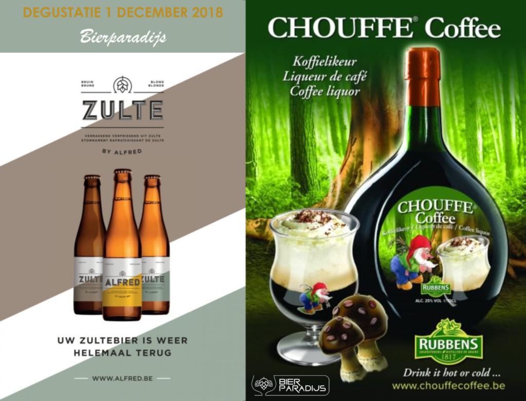 Zulte & Alfred & Chouffe Coffee - Degustatie Bierparadijs