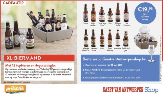 Bestel unieke biermanden voor Vaderdag bij Bierparadijs!