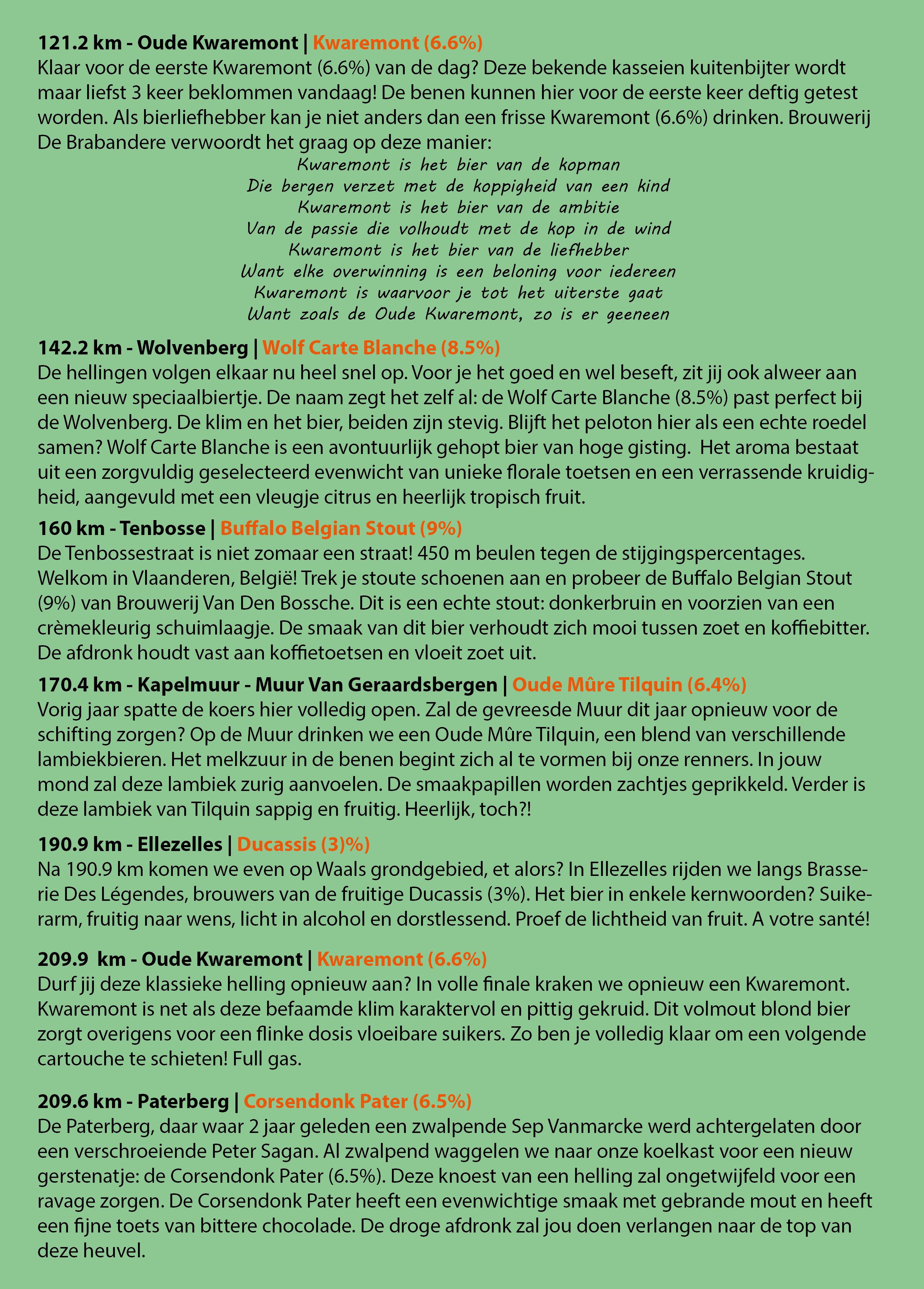 Ronde Van Vlaanderen 2018 Biergids - Bierparadijs - Blz2